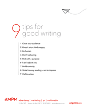 9 Writing Tips